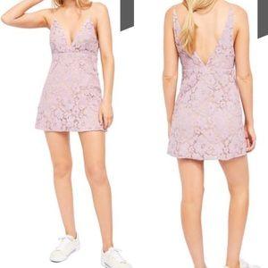 Free People Dangerous Love Lace Mini Dress Size 8